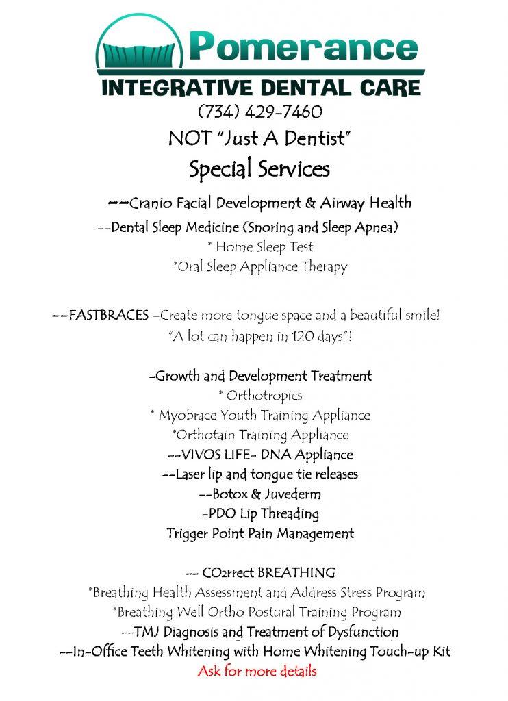 Services - Pomerance Dental Care